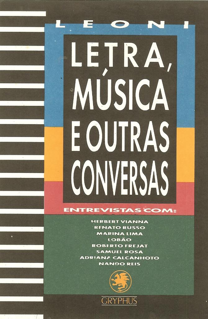Livro Letra Música e Outras Conversas