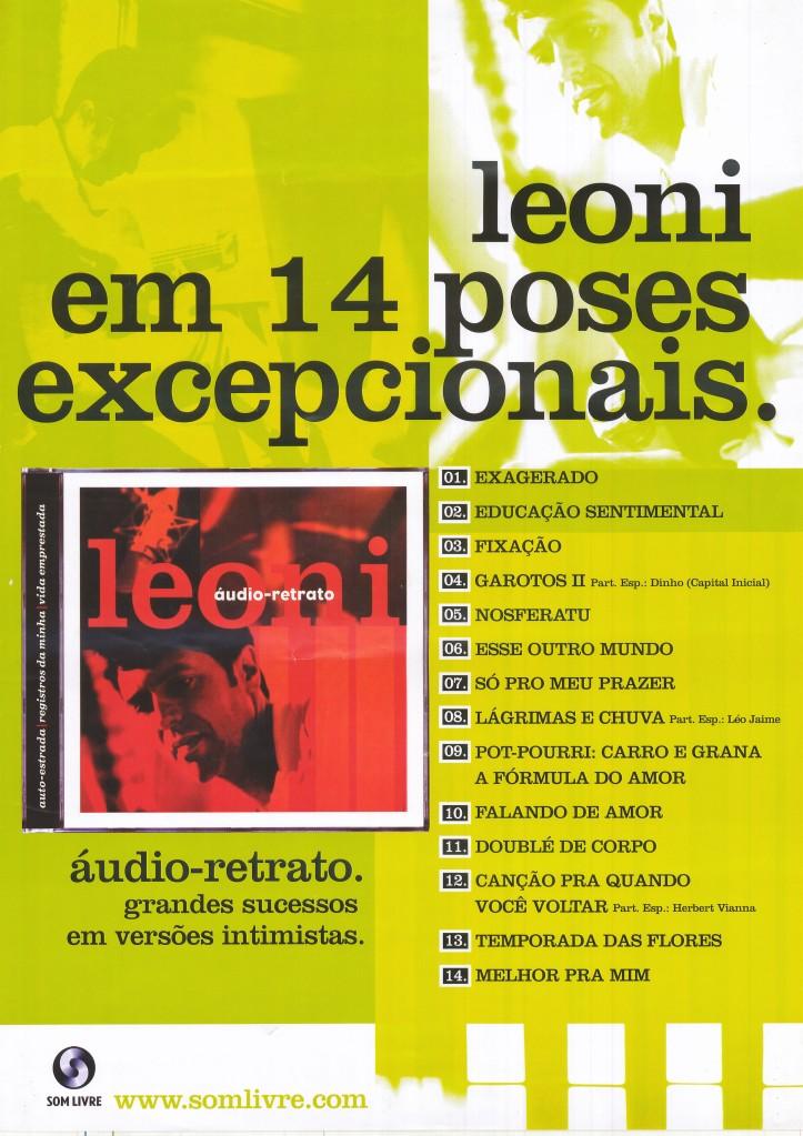 Poster do álbum audio retrato do Leoni